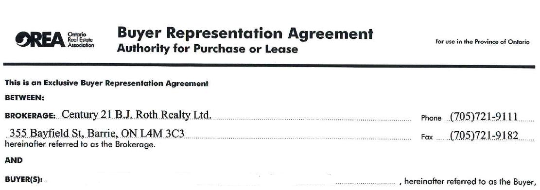 Signing the Buyer Representation Agreement | Barrie Real Estate Talk