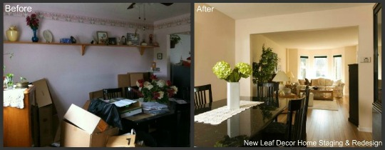 Before and After Staging Photo